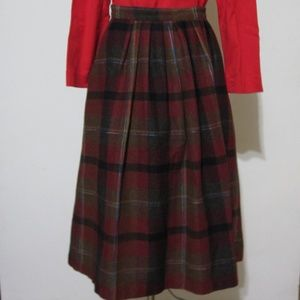 Dresses & Skirts - Vintage Red Brown Fall Wool Blend Circle Skirt